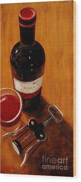 Wine Perspective Wood Print