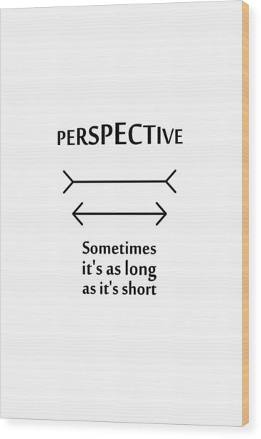 Perspective Wood Print