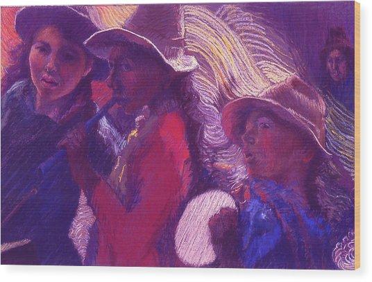 Peruvian Musicians Wood Print