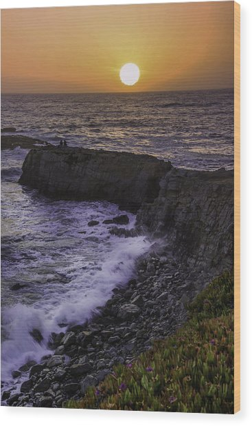 Pescadero Sunset Wood Print