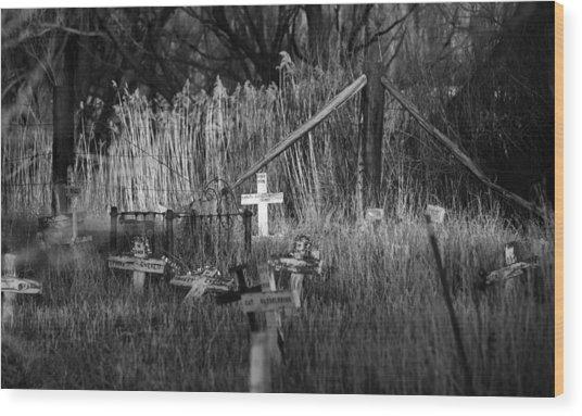 Pet Cemetery Wood Print