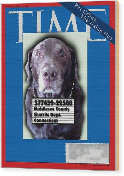 Pet Crime Wood Print