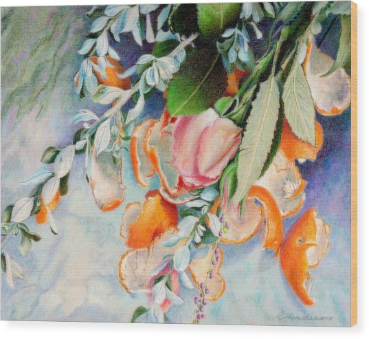Petals And Peels Wood Print by Robynne Hardison