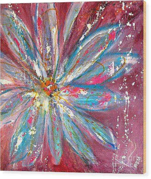 Petals Exploding Wood Print