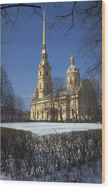 Peter And Paul Cathedral Wood Print
