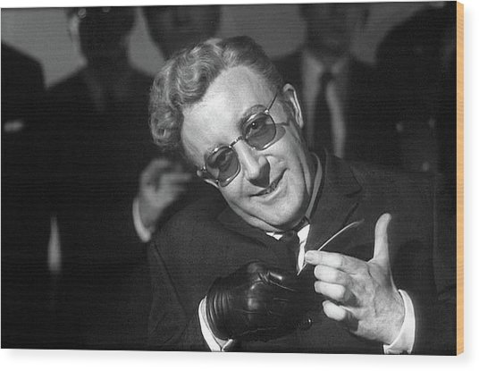 Peter Sellers As Dr. Strangelove Number One Color Added 2016 Wood Print