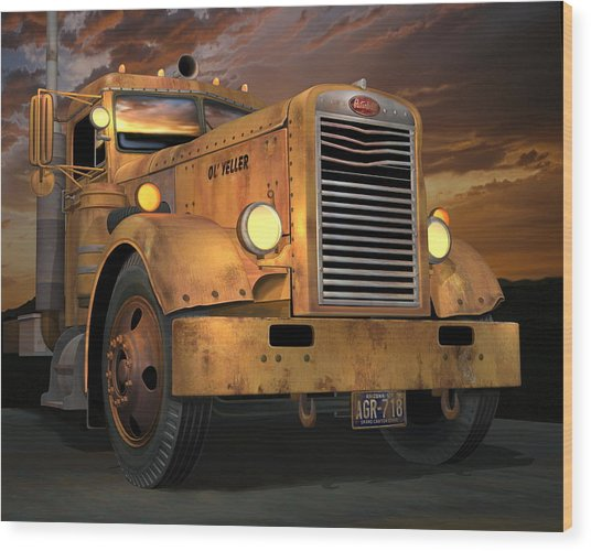 Peterbilt Ol Yeller Wood Print