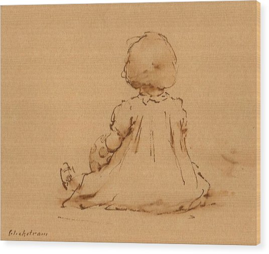 Petite Fille Wood Print