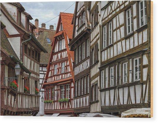 Petite France Houses, Strasbourg Wood Print