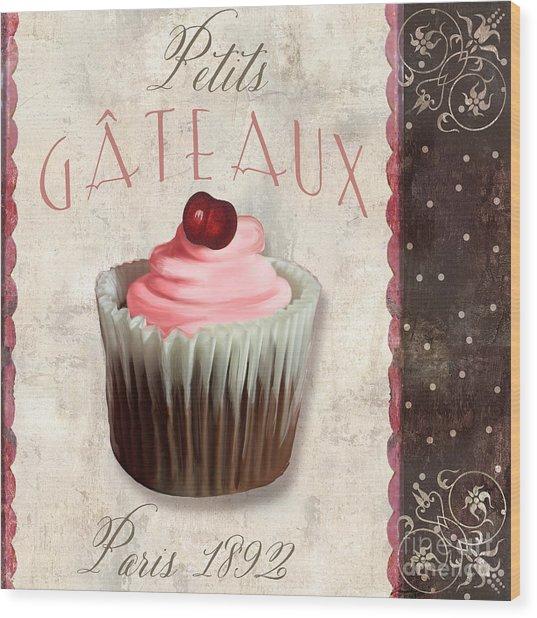 Petits Gateaux Chocolat Patisserie Wood Print
