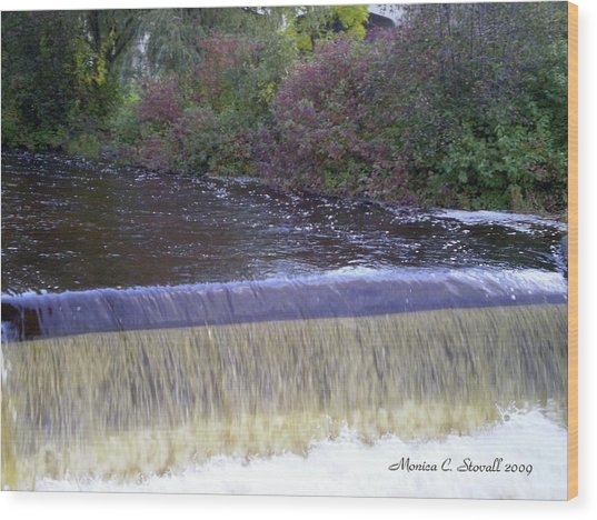 Petoskey Mi Mineral Park Waterfall  Wood Print