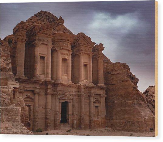 Petra's Monastery Wood Print