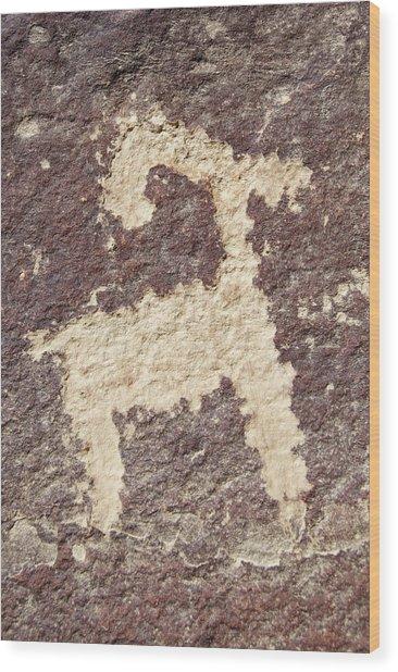Petroglyph - Fremont Indian Wood Print