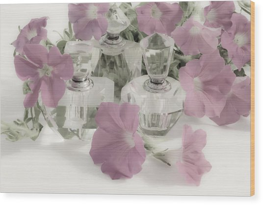 Petunias And Perfume - Soft Wood Print