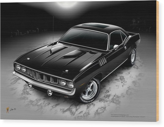 Phantasm 71 Cuda Wood Print