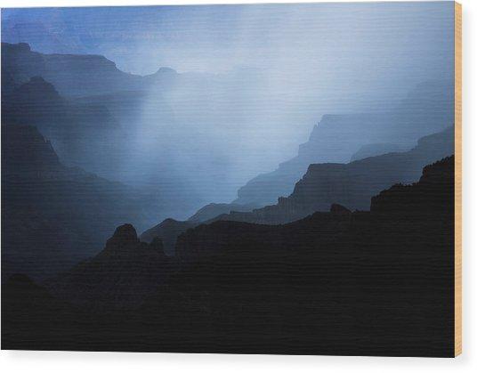 Phantom Blues Wood Print by Adam Schallau