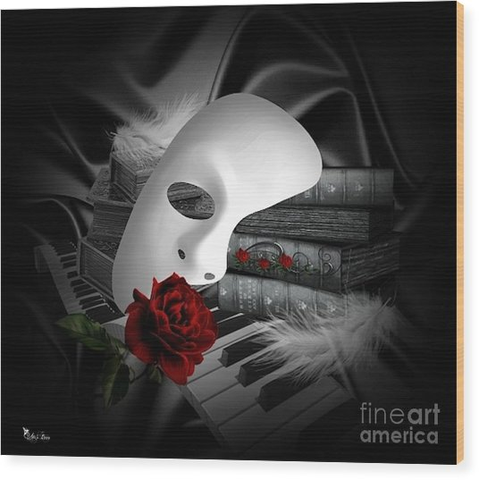 Phantom Of The Opera Wood Print