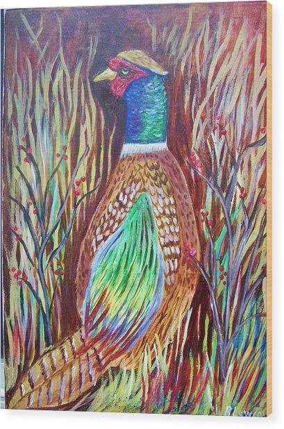 Pheasant In Sage Wood Print
