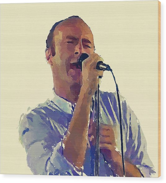 Phil Collins Mama Wood Print