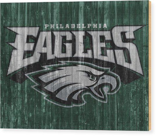 Philadelphia Eagles Barn Door Wood Print