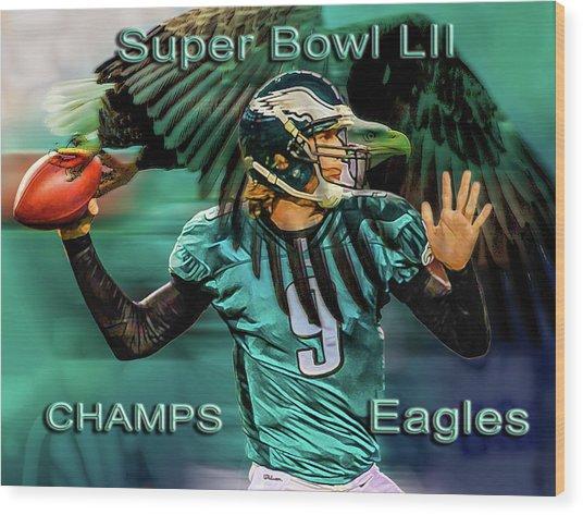 Philadelphia Eagles - Super Bowl Champs Wood Print