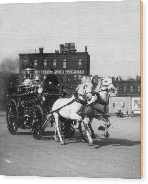 Philadelphia Fire Department Engine - C 1905 Wood Print