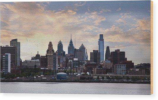 Philadelphia Wood Print