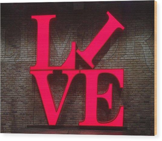 Philadelphia Live Wood Print