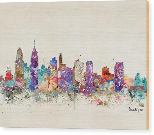 Philadelphia Pennsylvania  Wood Print