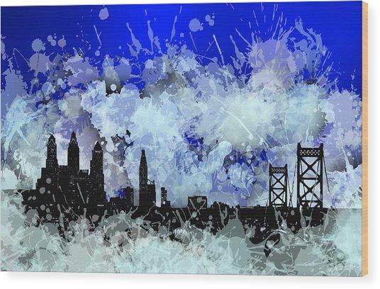 Philadelphia Skyline.1 Wood Print