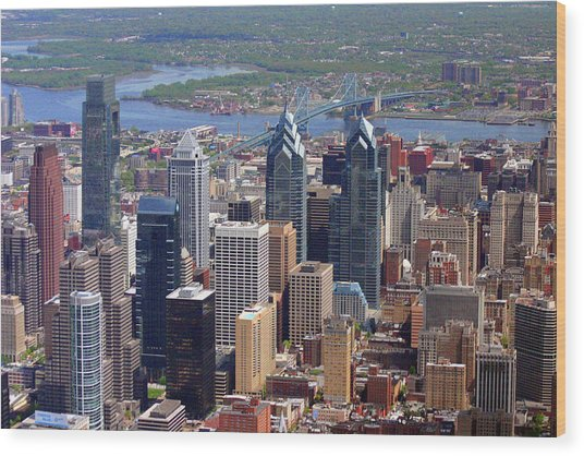 Philadelphia Skyscrapers Wood Print