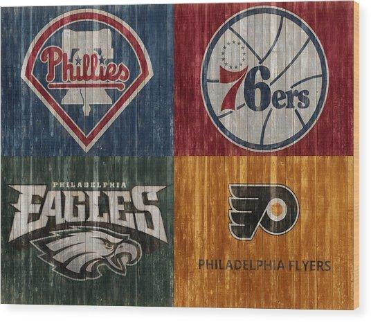 Philadelphia Sports Teams Wood Print