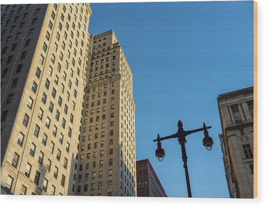 Philadelphia Urban Landscape - 0948 Wood Print