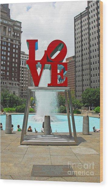 Philadelphia's Love Park Wood Print