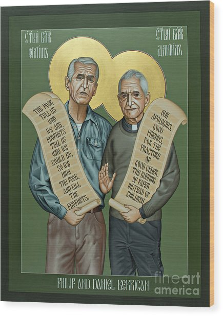 Philip And Daniel Berrigan Wood Print