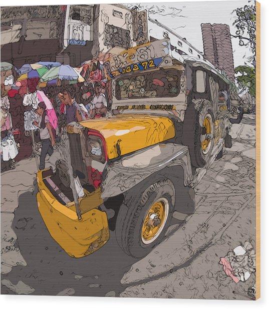 Philippines 1261 Jeepney Wood Print