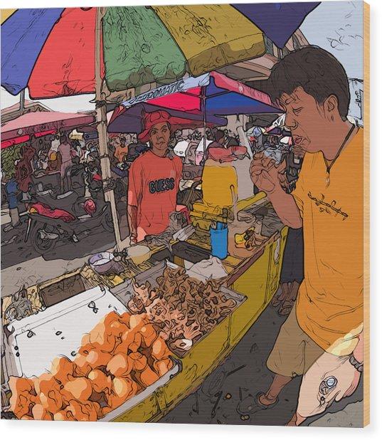 Philippines 1299 Street Food Wood Print