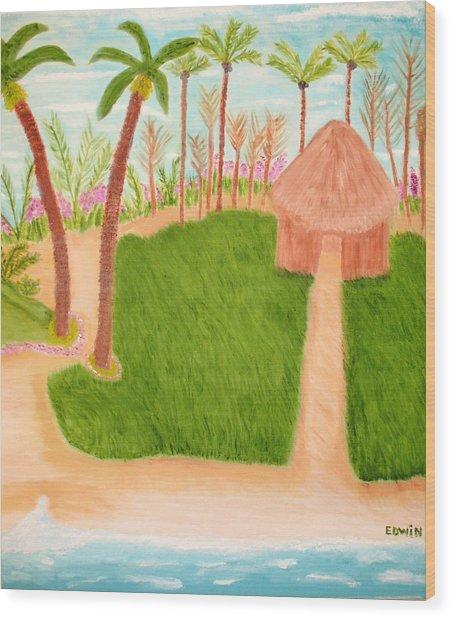 Phillipine Vacation Wood Print by Edwin Long