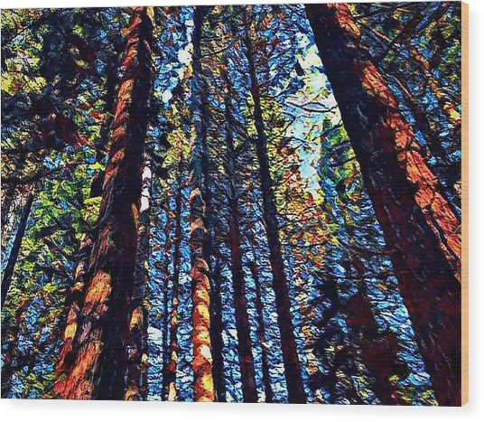 Phil's Trees Wood Print
