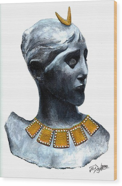 Phoenician Beauty Wood Print