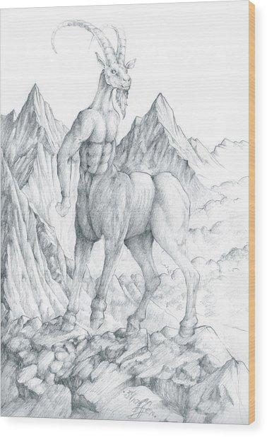 Pholus The Centauras Wood Print