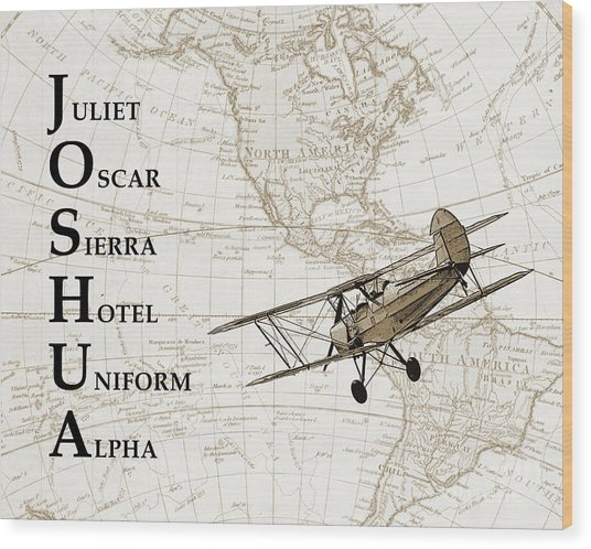 Phonetic Alphabet Custom Name Wood Print