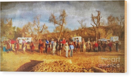 Happy Trails Wood Print