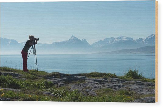 Photograph In Norway Wood Print