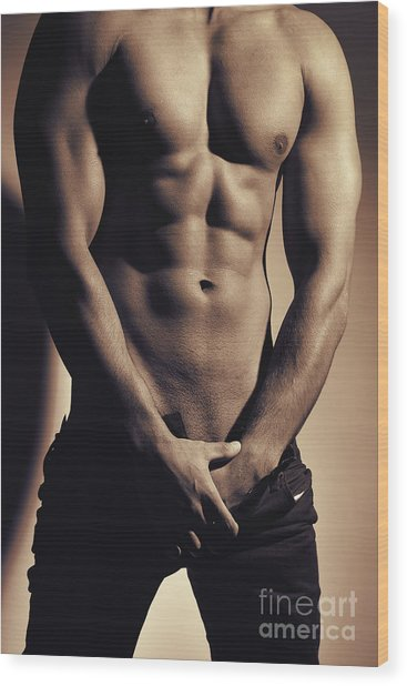 Photograph Of A Sexy Man #9979g Wood Print