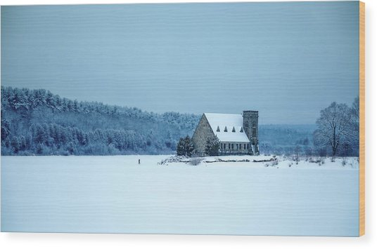 Photographer On Thin Ice Wood Print