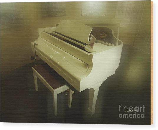 Piano Dream Wood Print