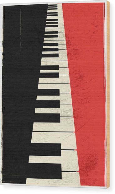 Piano Keys Wood Print
