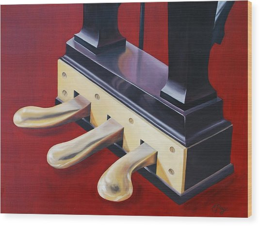 Piano Pedals Wood Print