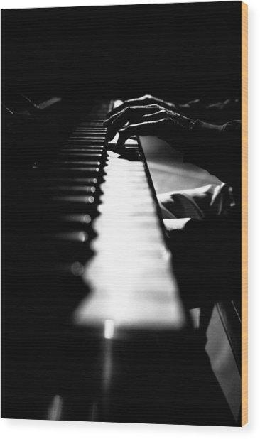 Piano Player Wood Print